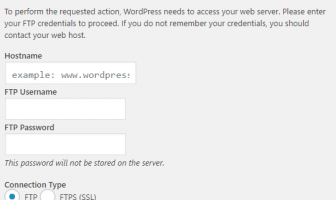 Why WordPress asks Connection Information